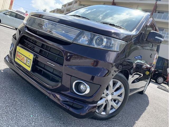 沖縄県の中古車ならワゴンRスティングレー リミテッド CD ラジオ フルセグ Bluetooth