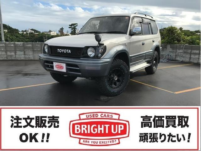 沖縄の中古車 トヨタ ランドクルーザープラド 車両価格 149万円 リ済別 1996(平成8)年 15.0万km ライトグレーII