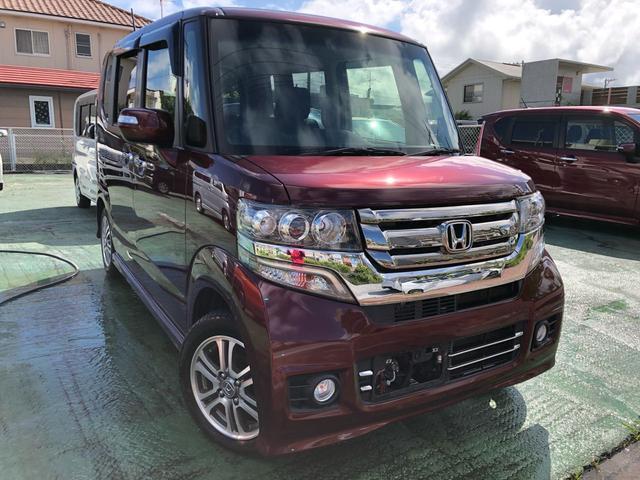 沖縄の中古車 ホンダ N-BOXカスタム 車両価格 119万円 リ済込 2015(平成27)年 1.5万km ワイン
