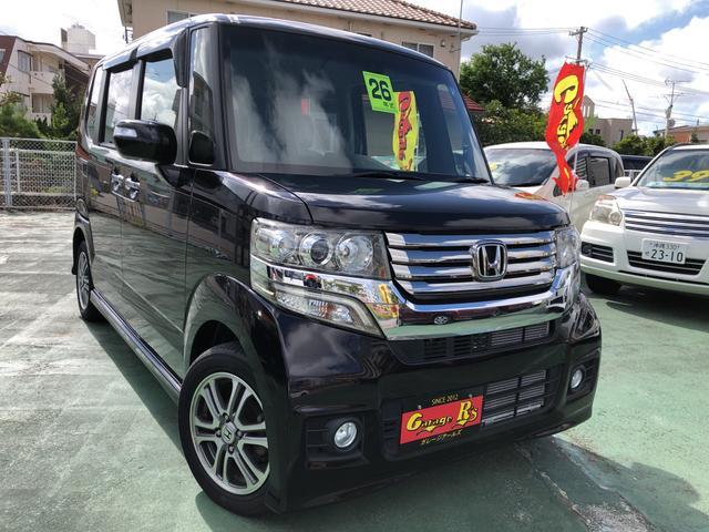 沖縄の中古車 ホンダ N-BOXカスタム 車両価格 99万円 リ済込 2014(平成26)年 5.7万km ブラックM