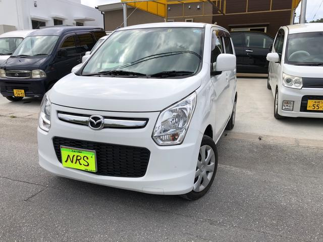 沖縄の中古車 マツダ フレア 車両価格 34万円 リ済込 2013(平成25)年 14.0万km ホワイト