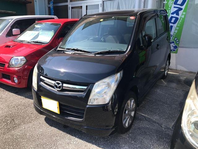 沖縄の中古車 マツダ AZワゴン 車両価格 22万円 リ済込 2010(平成22)年 12.0万km ブラック
