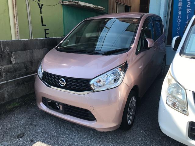 沖縄の中古車 日産 デイズ 車両価格 37万円 リ済込 2014(平成26)年 11.0万km ピンク