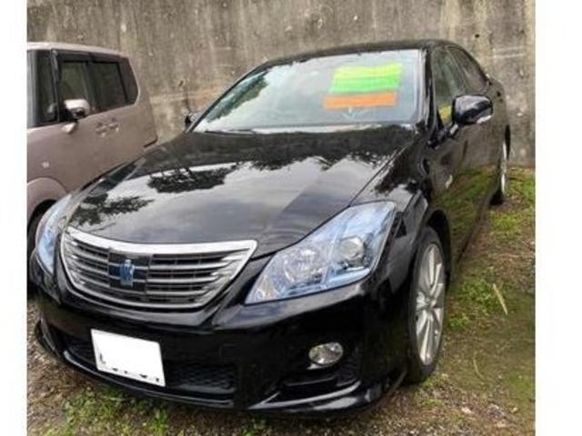 沖縄の中古車 トヨタ クラウンハイブリッド 車両価格 78万円 リ済込 2009(平成21)年 13.1万km ブラック