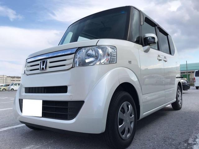 沖縄の中古車 ホンダ N-BOX 車両価格 70万円 リ済込 2012(平成24)年 10.3万km パールホワイト