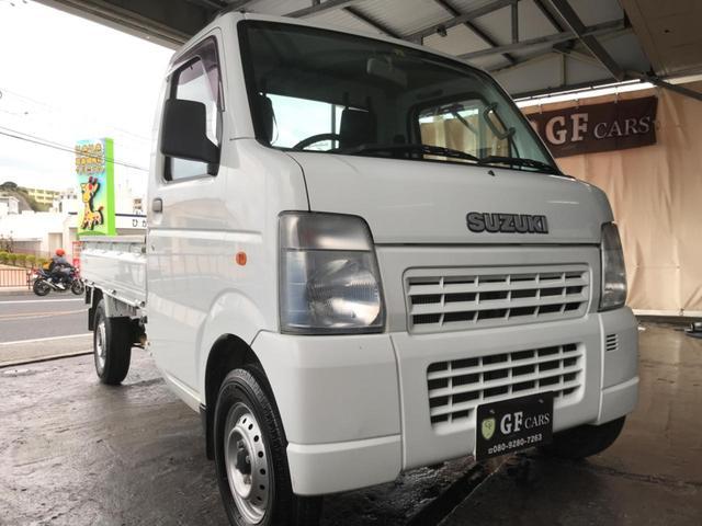 沖縄県の中古車ならキャリイトラック KCエアコン・パワステ 2年保証付き・走行4.8万km・5速マニュアル・エアコン・パワステ・本土車