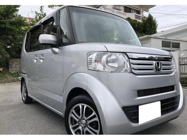沖縄県の中古車ならN-BOX G・Lパッケージ 2年保証付・ブルートゥース・TV/ナビ