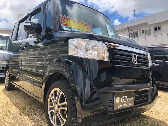 沖縄の中古車 ホンダ N-BOX 車両価格 80万円 リ済込 2015(平成27)年 9.3万km スマートブラック