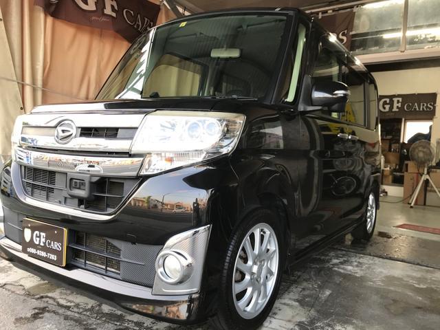 沖縄県の中古車ならタント カスタムX SA 2年保証付き・TV・ナビ・Bluetooth・バックカメラ・電動スライドドア・スマートアシスト・新品タイヤ・ETC・プッシュスタート・本土車
