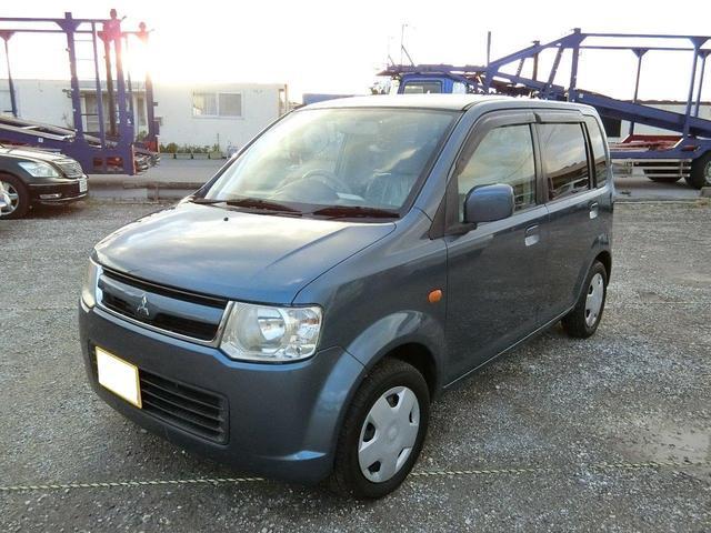 沖縄の中古車 三菱 eKワゴン 車両価格 24.5万円 リ済別 2007(平成19)年 5.7万km ダークブルーM