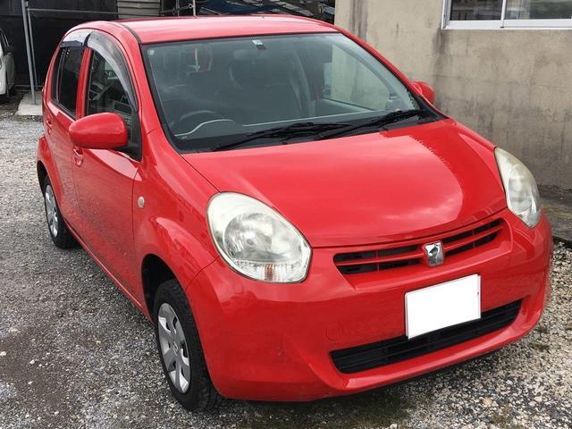 沖縄の中古車 トヨタ パッソ 車両価格 30万円 リ済込 2011(平成23)年 7.8万km レッド