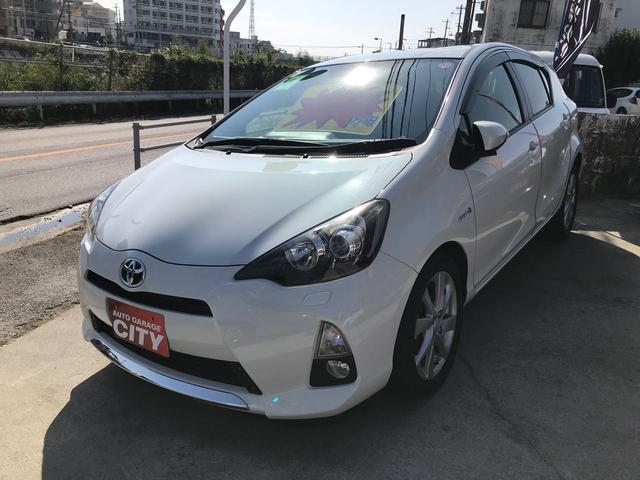 沖縄の中古車 トヨタ アクア 車両価格 79万円 リ済込 2012(平成24)年 7.2万km パール