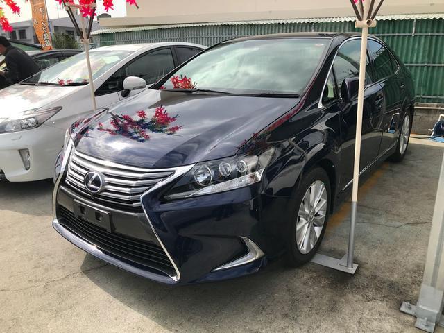 沖縄の中古車 レクサス HS 車両価格 165万円 リ済込 2013(平成25)後 5.8万km ブルーM