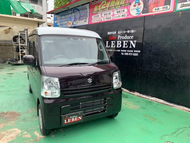 沖縄の中古車 スズキ エブリイ 車両価格 118万円 リ済込 2020(令和2)年 5km パープルM