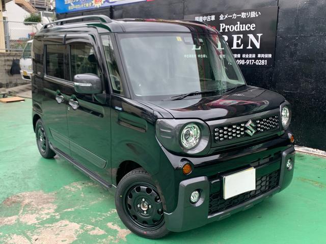 沖縄の中古車 スズキ スペーシアギア 車両価格 172万円 リ済込 新車  ブラックM