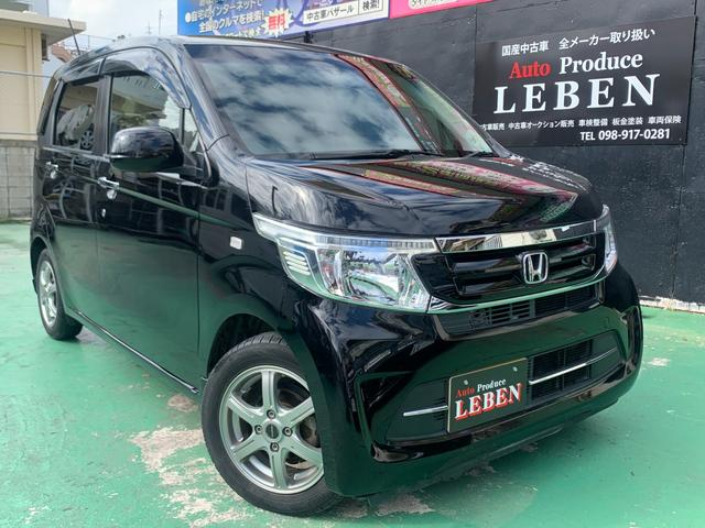 沖縄の中古車 ホンダ N-WGN 車両価格 77万円 リ済込 2016(平成28)年 4.9万km ブラックM