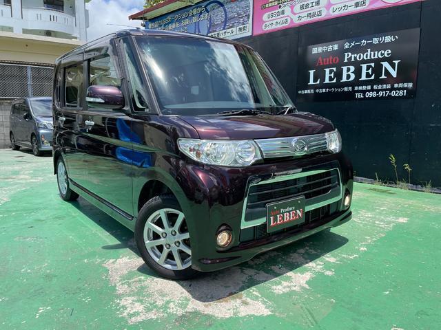 沖縄県の中古車ならタント カスタムX スマートキー・フルセグナビ・Bluetooth・バックカメラ・ETC・助手席側パワースライドドア・ピラーレス・USB接続・フォグライト・HIDヘッドライト