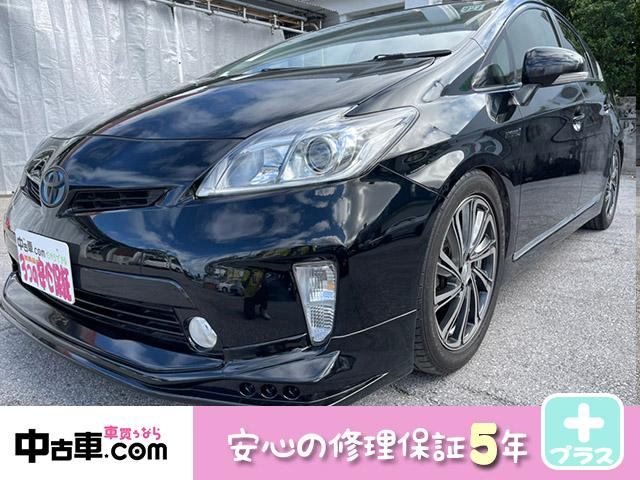 沖縄の中古車 トヨタ プリウス 車両価格 85万円 リ済込 2014(平成26)年 10.0万km ブラック