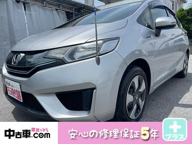 沖縄の中古車 ホンダ フィットハイブリッド 車両価格 65万円 リ済込 2014(平成26)年 8.8万km シルバー