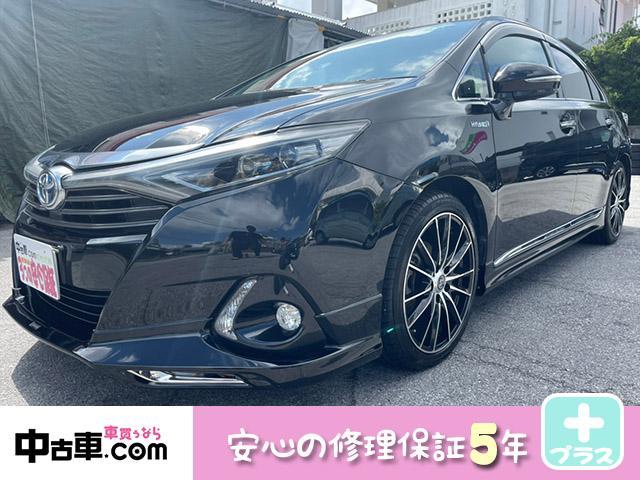 沖縄県の中古車ならSAI G 5年保証付♪ 18インチアルミホイール&タイヤ4本新品 フルセグBT 字光式プレート モデリスタエアロ