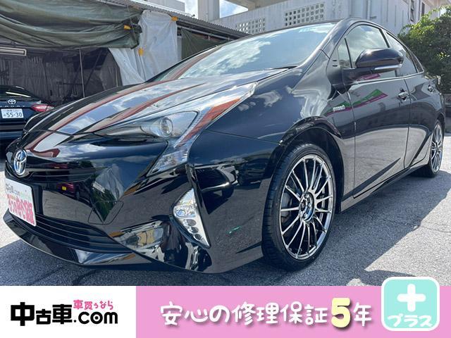 沖縄の中古車 トヨタ プリウス 車両価格 165万円 リ済込 2017(平成29)年 7.6万km ブラック
