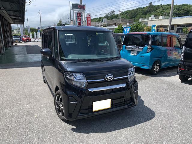 沖縄の中古車 ダイハツ タント 車両価格 168万円 リ済込 2019(令和1)年 0.2万km ブラック