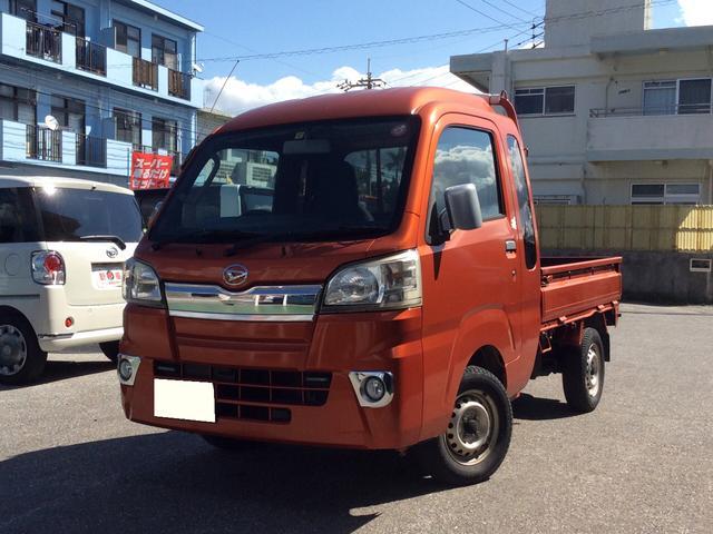 沖縄の中古車 ダイハツ ハイゼットトラック 車両価格 95万円 リ済込 2015(平成27)年 1.8万km オレンジ