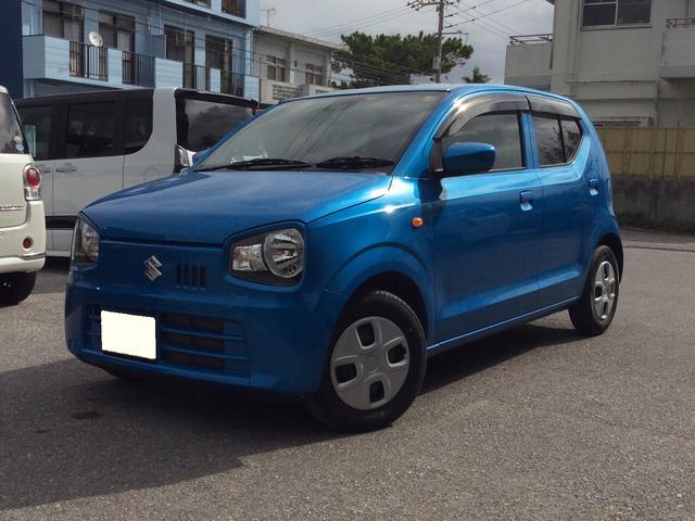 沖縄の中古車 スズキ アルト 車両価格 87万円 リ済込 2019(令和1)年 0.8万km ブルー