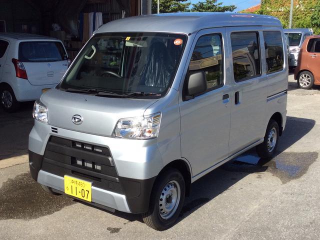 沖縄の中古車 ダイハツ ハイゼットカーゴ 車両価格 ASK リ済込 2021(令和3)年 6km グレーM