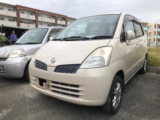 沖縄の中古車 日産 モコ 車両価格 14万円 リ済別 2003(平成15)年 15.6万km ベージュM