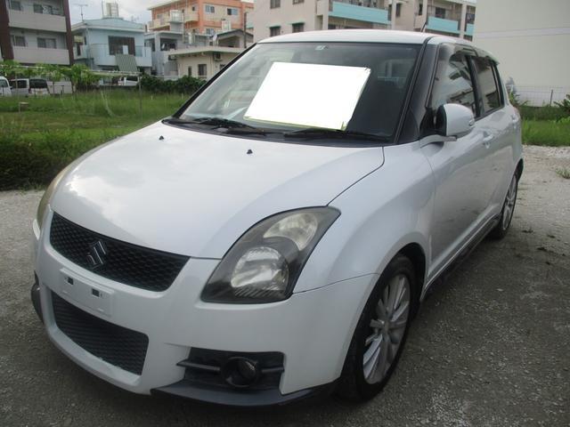 沖縄の中古車 スズキ スイフト 車両価格 29万円 リ済別 2009(平成21)年 11.0万km パール