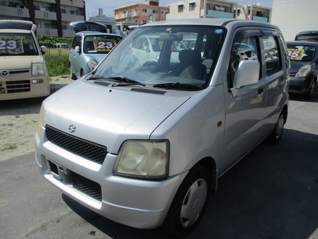 沖縄の中古車 スズキ ワゴンR 車両価格 12万円 リ済別 2000(平成12)年 12.6万km シルバーM