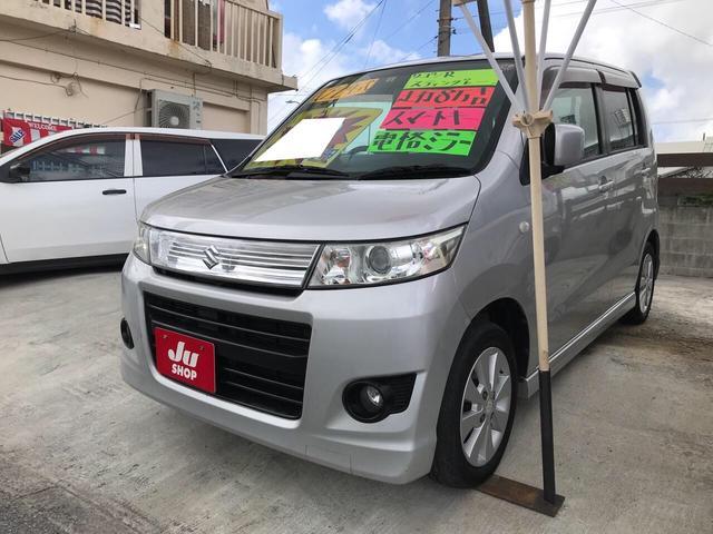 沖縄の中古車 スズキ ワゴンRスティングレー 車両価格 29万円 リ済込 2010(平成22)年 8.2万km シルキーシルバーメタリック