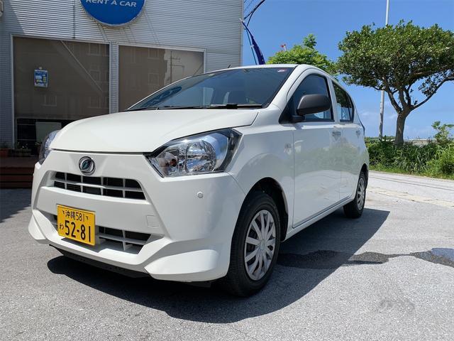 沖縄の中古車 ダイハツ ミライース 車両価格 76万円 リ済込 2018(平成30)年 3.8万km ホワイト