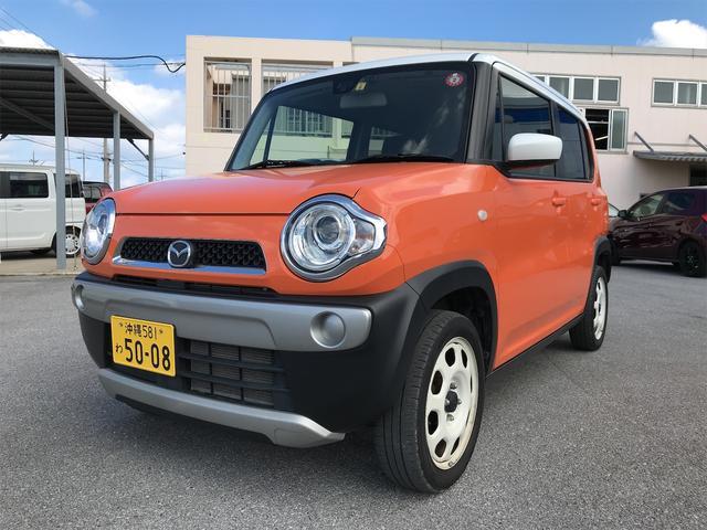 沖縄の中古車 マツダ フレアクロスオーバー 車両価格 95万円 リ済込 2018(平成30)年 5.4万km パッションオレンジII