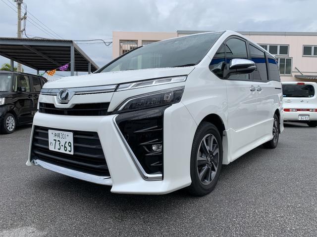沖縄県の中古車ならヴォクシー ZS 煌 Toyota Sefety Sence Bi-Beam LEDヘッドランプ 純正16インチアルミホイール エアロパーツ 両側パワースライド ナビ ETC バックカメラ