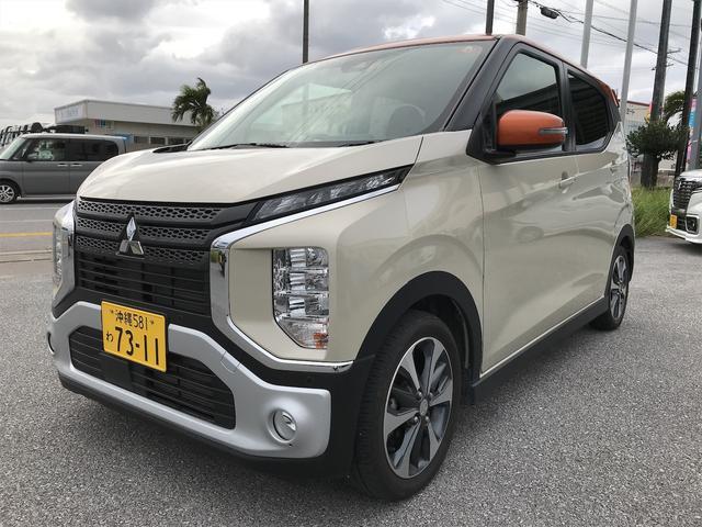 沖縄の中古車 三菱 eKクロス 車両価格 138万円 リ済込 2019(令和1)年 2.2万km ナチュラルアイボリーメタリックII