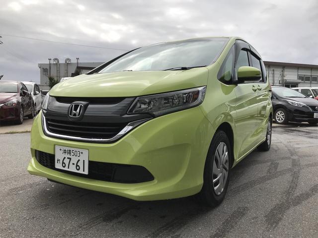 沖縄の中古車 ホンダ フリード 車両価格 162万円 リ済込 2018(平成30)年 3.8万km シトロンドロップ