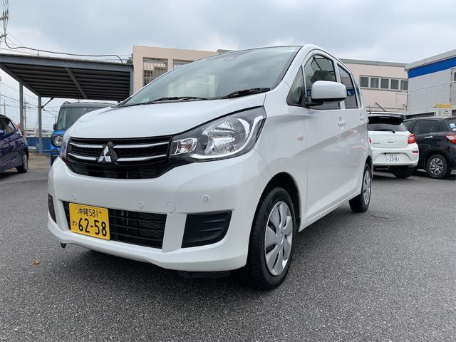 沖縄の中古車 三菱 eKワゴン 車両価格 93万円 リ済込 2019(平成31)年 2.5万km ホワイトソリッド
