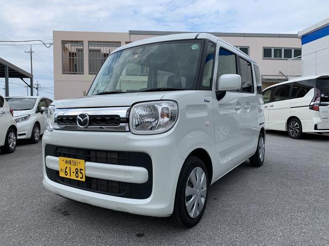 沖縄の中古車 マツダ フレアワゴン 車両価格 118万円 リ済込 2019(平成31)年 2.8万km ピュアホワイトパール