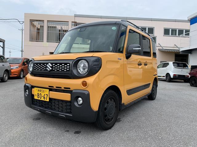 沖縄県の中古車ならスペーシアギア ハイブリッドXZ 両側パワースライド プッシュスタート 後退時ブレーキサポート ナビ ETC バックカメラ