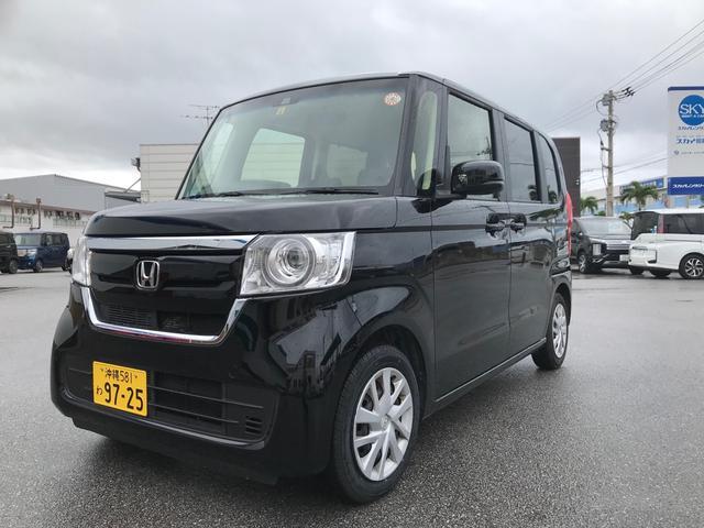 沖縄の中古車 ホンダ N-BOX 車両価格 145万円 リ済込 2020(令和2)年 1.4万km ブラック