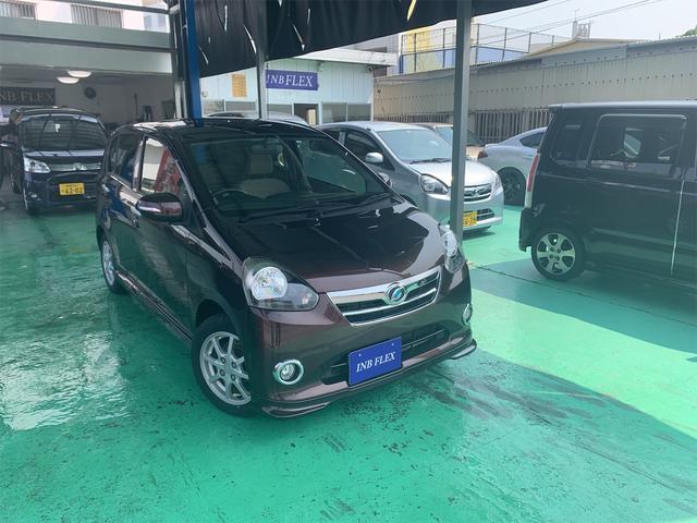 沖縄の中古車 ダイハツ ミライース 車両価格 37万円 リ済込 2012(平成24)年 8.6万km ブラウンM