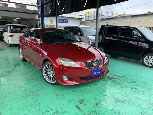 沖縄の中古車 レクサス IS 車両価格 49万円 リ済込 2006(平成18)年 11.6万km レッドM