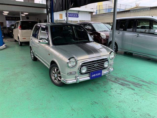 沖縄県の中古車ならミラジーノ ミニライトスペシャルターボ キーレス Bluetoothオーディオ ターボタイマー 革巻きハンドル HID シートカバー タイミングベルト交換済み