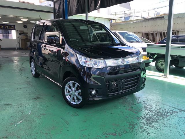 沖縄の中古車 スズキ ワゴンRスティングレー 車両価格 45万円 リ済込 2013(平成25)年 10.5万km ブラックM