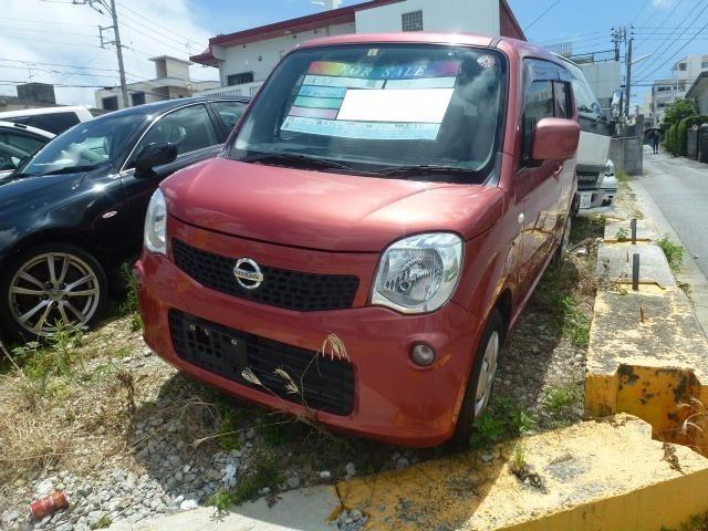 沖縄の中古車 日産 モコ 車両価格 39万円 リ済込 2012(平成24)年 8.4万km ピンク