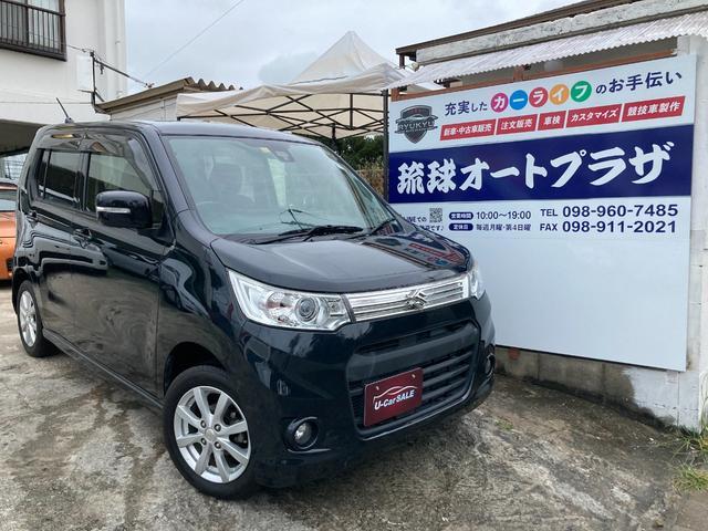 沖縄の中古車 スズキ ワゴンRスティングレー 車両価格 59万円 リ済込 2013(平成25)年 8.1万km ブラック