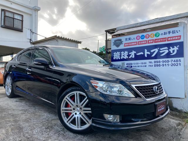 沖縄の中古車 レクサス LS 車両価格 122万円 リ済込 2010(平成22)年 13.7万km ブラック
