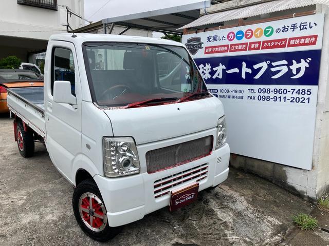 沖縄の中古車 スズキ キャリイトラック 車両価格 26万円 リ済込 2002(平成14)年 26.5万km ホワイト